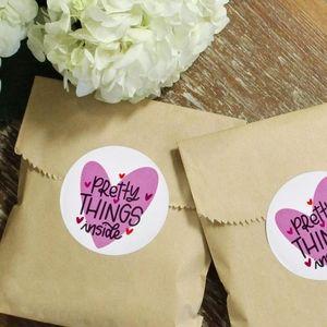 Pretty Things Inside Stickers Purple Heart
